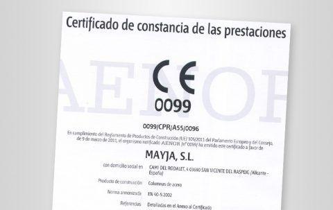 Renovación de certificado de producto AENOR